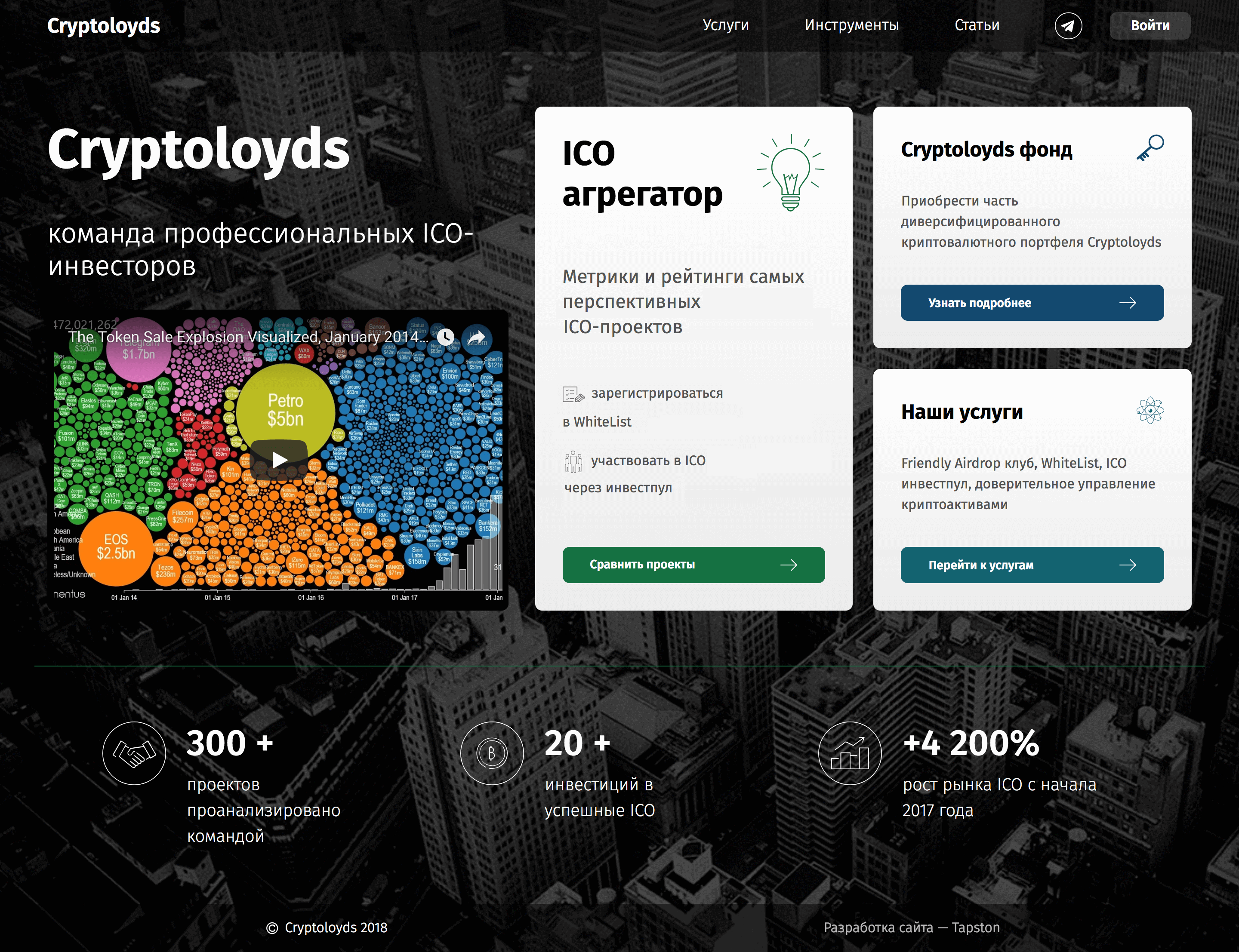 Website for «Cryptoloyds»